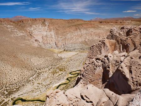 Canyon of Anaconda.Andean altiplano of Bolivia, South America 写真素材