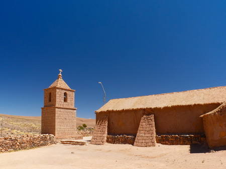 The old church of Socaire. The desert of Atacama in the north of Chile is the driest region on earth.