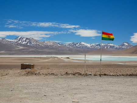 Andean altiplano of Bolivia, South America 写真素材