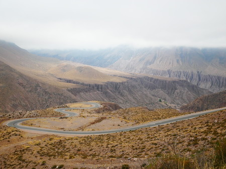 Curvy road from Cuesta de Lipan to Quebrada de Humahuaca