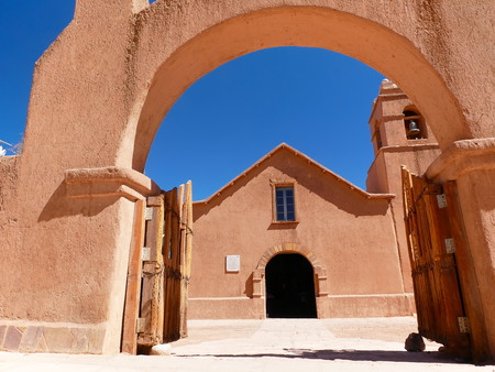 Church of San Pedro de Atacama in the north of Chile 写真素材