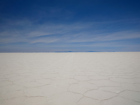 The incredible salt flat of Salar de Uyuni, on the andean altiplano of Bolivia, South America