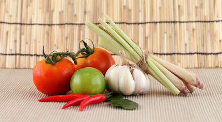 Asian herb and spicy Tom Yum ingredients food  photo