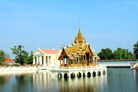 pavillion: The Aisawan Thipphaya-at Pavillion in the gardens of the old Royal Summer Palace in Bang Pa In, Ayuttaya province, Thailand