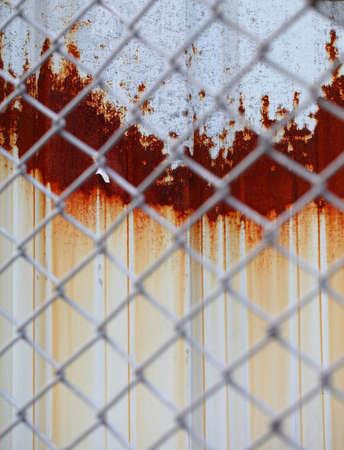 zinc: A rust on Zinc wall  Stock Photo