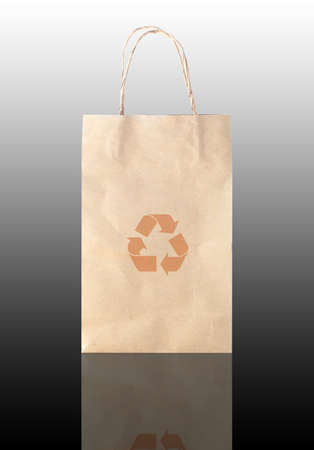 Recycle logo on paper bag photo