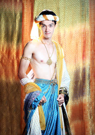 Thai man classical dancer Stock Photo