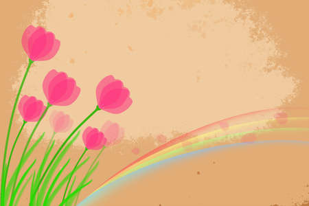 spring design with flowers  photo