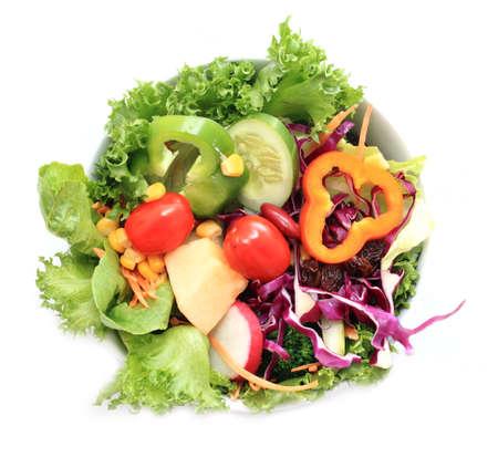 salads on white background  版權商用圖片