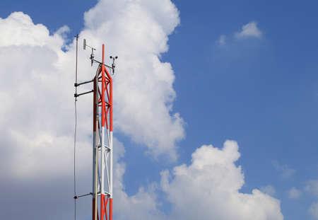 meteorological: rusty meteorological sensors of weather station.