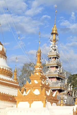 hon: Temple in Mae Hon Song town, Thailand