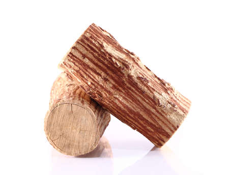 Tanaka wood on white background