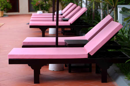 daybed: Modern colorful daybed at swimming pool