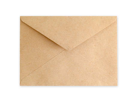 brown: Brown Envelope document on white background