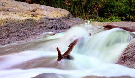 sulfide: Sulfide waterfall at kawa ijen  Indonesia Stock Photo