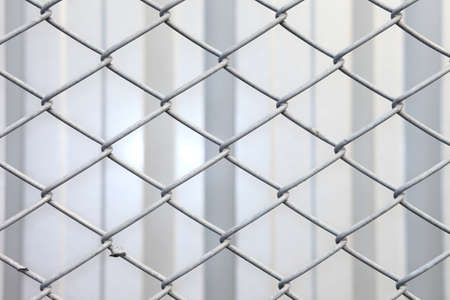 chainlink fence: Decorative wire mesh metal.