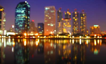 City at night - blur photo,Bokeh background photo