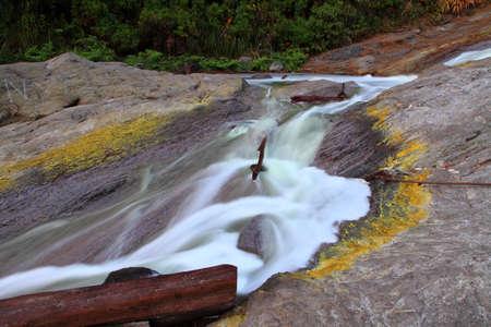 sulfide: Sulfide waterfall at kawa ijen Indonesia