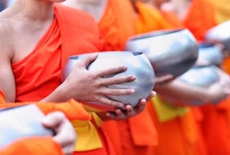 Buddhist monk's alms bowl, thailand 版權商用圖片 - 35812834