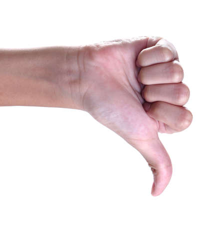 unlike: thumbs up sign against white background ,unlike
