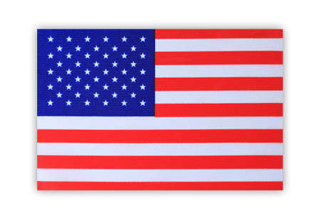 advertise with us: American flag isolated on white background .