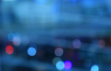 abstract city: Blurred background.Abstract background with bokeh defocused lights. Stock Photo