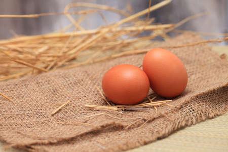 Photo of raw illuminated eggs in kitchen 版權商用圖片