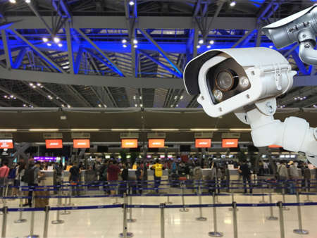 CCTV camera security or surveillance operating in air port.