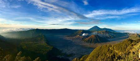 Bromo volcano at sunrise, Tengger Sumeru National Park, East Jawa Indonesia. Stock Photo