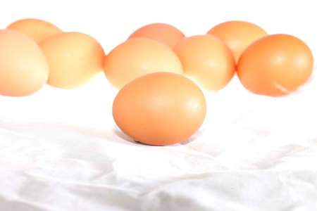 Raw chicken eggs collect from the farm products natural eggs for food