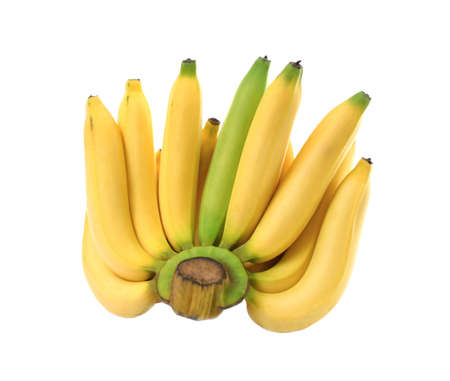 Bananas on wooden background banana, beverage food, fresh raw banana.Copy space wooden background.