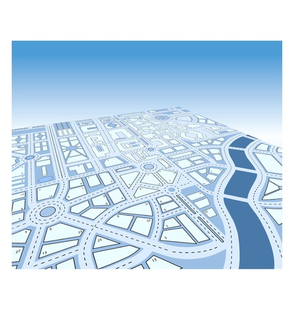 Isometrische vector kaart van de stad