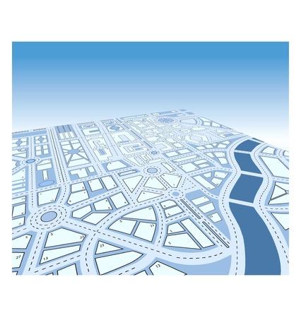 Mappa vettoriale isometrico della città