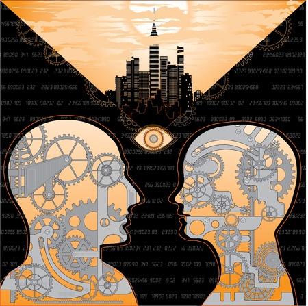 talking robot: the attraction of motor sensory  Illustration