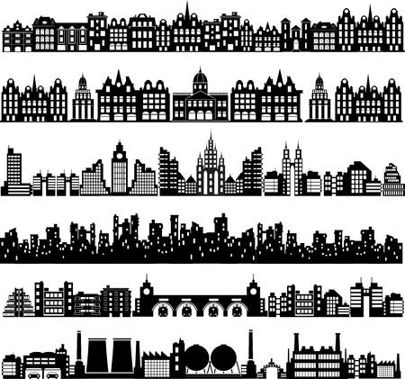 Diverse varianti di case sul bianco