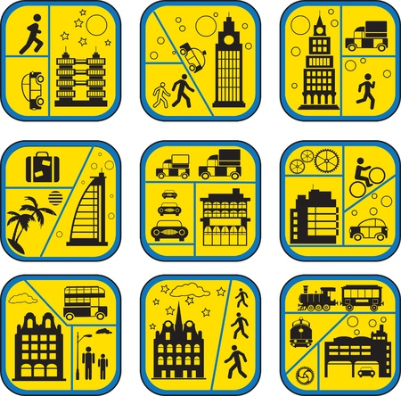 Set of icons from a city life Stock Vector - 11973244