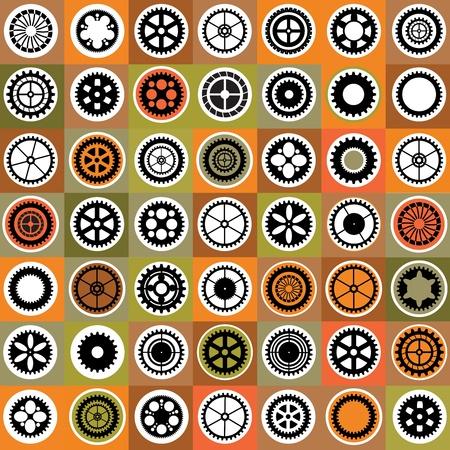 Een mozaïek bestaat uit spullen van verschillende kleur Vector Illustratie