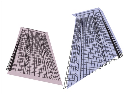 Vector buildings on a white background Vector