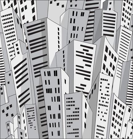 life style: Contexte de nombreux foyers urbains Illustration