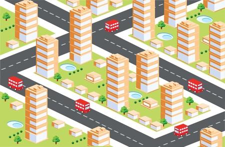 Area urbana in isometrica
