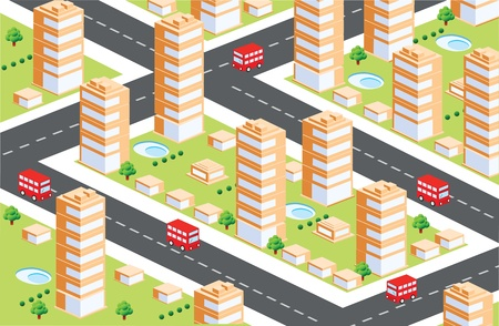 Urban area in the isometric Vector