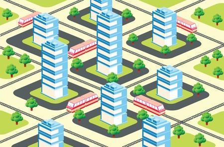 urban area: urban area in the isometric