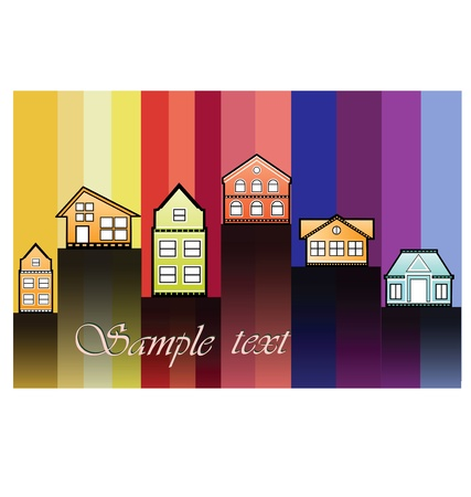 The house image on a color background Stock Vector - 12480661