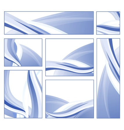 A set of abstract patterns can be used to design business cards and as background Vector