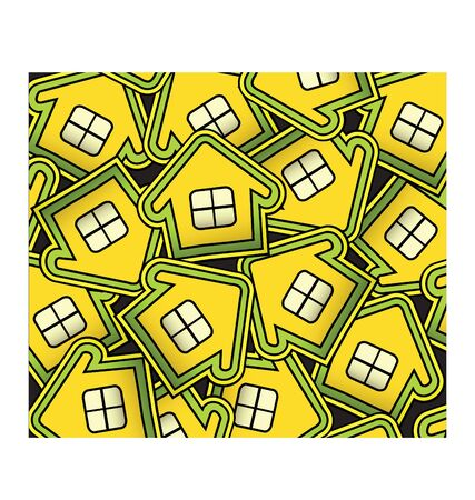 Abstract composition consisting of small houses Vector