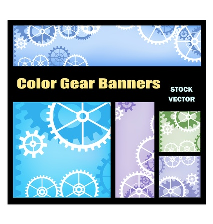 metal parts: Different color options for banners with gears