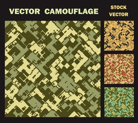 camouflage clothing: vector camouflage textures from various army colors