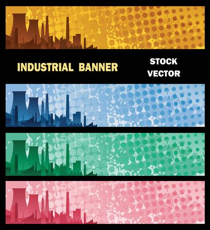 Vector banner with Industry factory, with the background color Stock Vector - 12481270