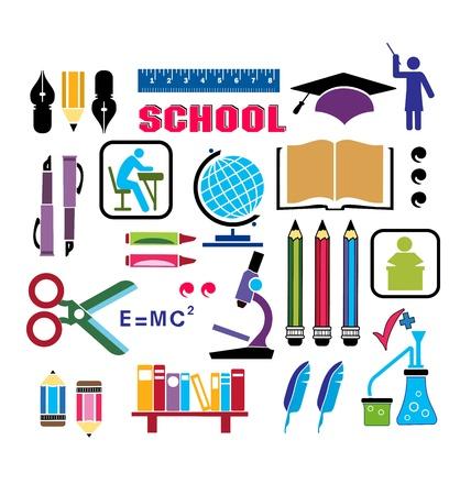 Immagini di oggetti che sono rilevanti per la scuola