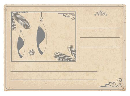 Stylized vector image of a vintage Christmas card Vector
